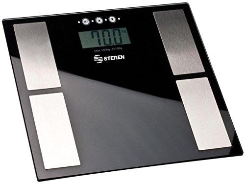 Steren MED-110 Bascula Digital C/Medidor de Masa Corporal Negra