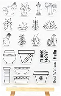 Welcome to Joyful Home 1pc Cactus Clear Stamp for Card Making Decoration and Scrapbooking