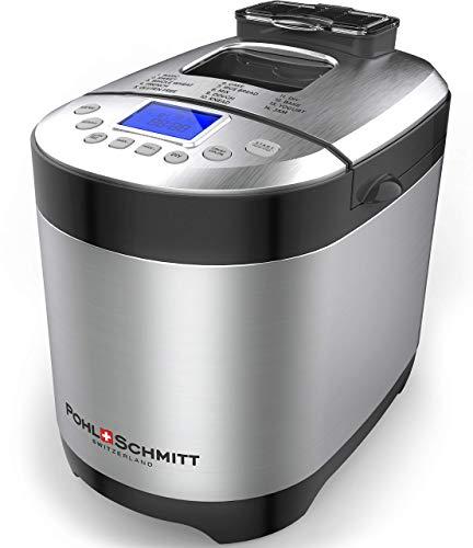 Pohl Schmitt Stainless Steel Bread Machine Bread Maker, 2LB 17-in-1, 14 Settings Incl Gluten Free & Fruit, Nut Dispenser, Nonstick Pan, $49.98