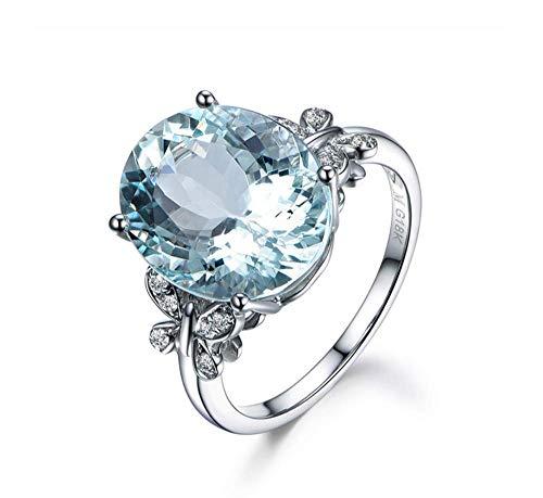 DDTing - Anillo de plata de ley 925 de topacio azul natural con piedras preciosas de ópalo de fuego, diamante para novia, boda, compromiso, cumpleaños, mejor regalo para fiestas, goodService 7
