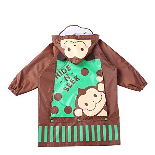 Imperméable GCX for Enfant, garçon, Fille Poncho bébé Respirant avec Sac La Mode (Color : Coffee, Size : M)