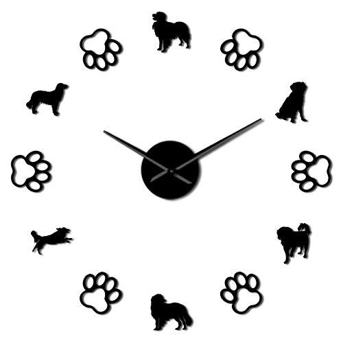 yaoyao Muur Klokken Voor Woonkamer Modern Nederland Hond Rassen Home Decor Kleine Caging Dog Diy Giant Wandklok Hond Paws Muur Art Decoratieve Wandhorloge Zwart Voor Elke Kamer In Thuis Keuken School