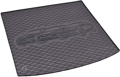Passgenau Kofferraumwanne geeignet für Skoda Kodiaq ab 2017 ideal angepasst schwarz Kofferraummatte + Gurtschoner