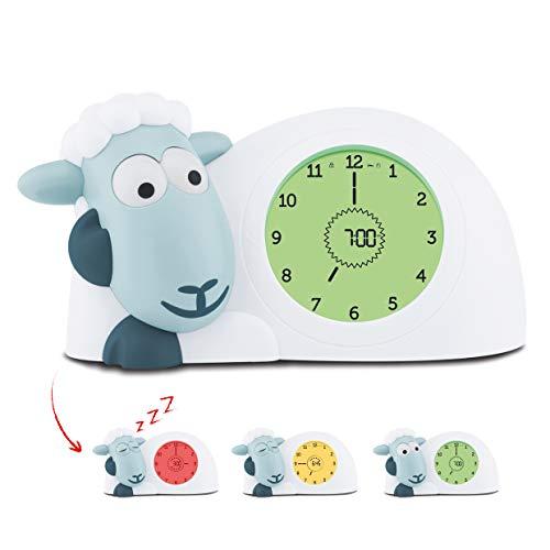 ZAZU Sam, Horloge et veilleuse de sommeil pour enfants - Réveil lumineux, aide à apprendre à votre enfant quand se réveiller - Bleu