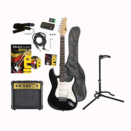 Voggenreiter Set de Guitarra eléctrica, 12 Piezas, Guitarra