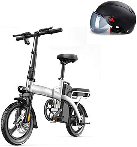 Bicicletas Eléctricas, 14' 350W plegable, Ciudad de bicicleta eléctrica eléctrica asistida deporte de la bicicleta de montaña bicicleta con el extraíble 48V batería de litio, Estructura de aleación de