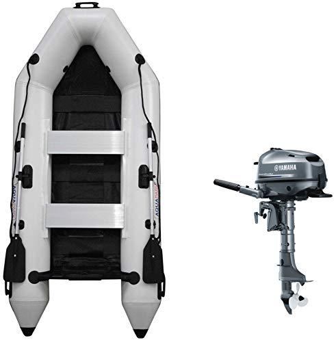 Prowake Schlauchboot mit Motor: RIB280 PRO AQUAPARX Schlauchboot weiß - 280cm lang und Yamaha Außenbordmotor F5AMHS im Set-Angebot (Versand kostenfrei)