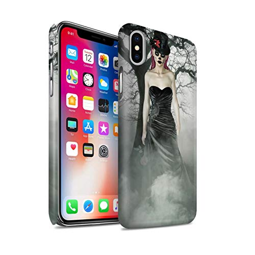 Stuff4® Phone Case/Cover/Skin/IP-3DSWM / Day of The Dead Festival Collection Apple iPhone X/10 Zwarte jurk vrouw