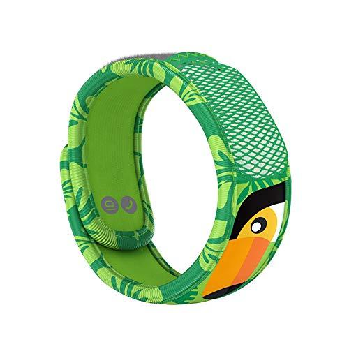 PARA'KITO Mosquito Insect & Bug Repellent Kids Wristband - Waterproof, Outdoor Pest Repeller Bracelet w/ Natural Essential Oils (Orange Beak)