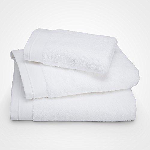 Serviette de Toilette - Coton peigné 600 g/m² - Unie Blanc BLANC CERISE 030x050 cm