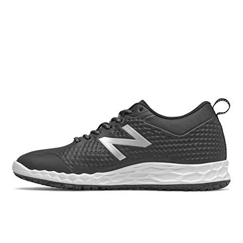 New Balance mens 806 V1 Industrial Shoe, Black/Silver Metallic/White, 12.5 Wide US