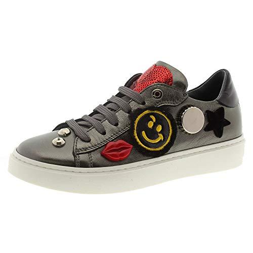 Zapatos Niña Casual Sneakers Andrea Morelli M4a4 Acero 32