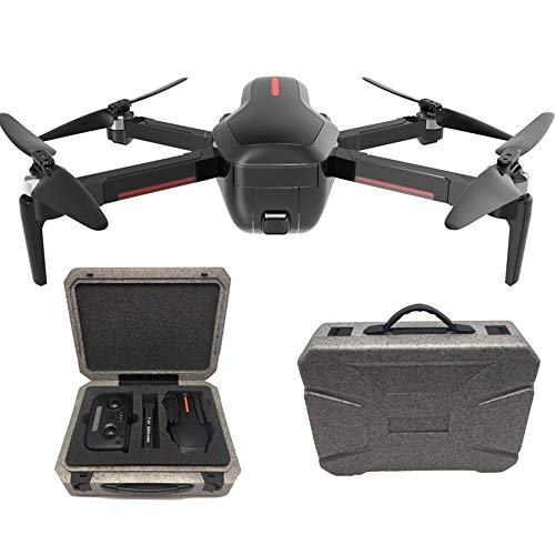 FPV Aerial Drones with 4K HD Dual Camera, WiFi Foldable Camera Drone with One Key Start and Stop, Gesture Control, Auto Hover, Headless Mode,Black