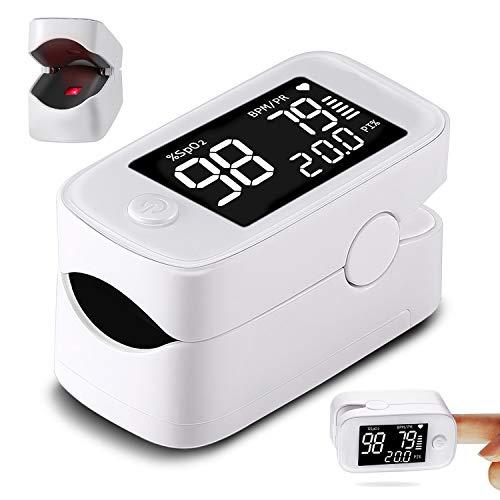 "Maclean PR-870 Pulsoximeter Fingerpulsoximeter mit 1.5"" HD LED Display Sauerstoffsättigung Messung Messgerät SpO2"