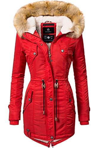 Navahoo Damen Winter Mantel Winterparka La Viva Rot Gr. XS