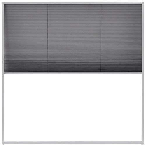 vidaXL Zanzariera Plissettata da Finestre Alluminio 120x120cm Barriera Zanzare