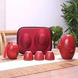 SSHDX Juego de té de Viaje de té Chino Kung Fu Teaset Cerámica Tetera portátil Tetera de Porcelana Gaiwan Tazas de té de Ceremonia de té