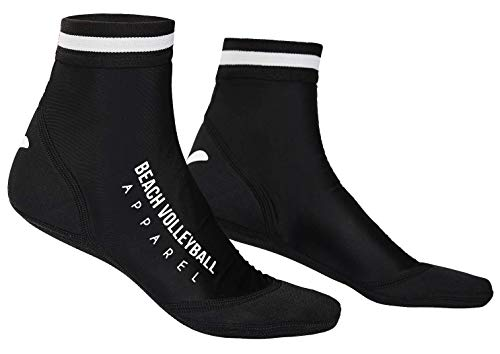 Beach Volleyball Apparel Beachsocken Beachvolleyball Sandsocken (Schwarz, 36-39 (S))