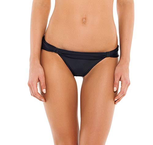 ViX Paula Hermanny Women's Solid Black Bia Tube Full Bottom, Small
