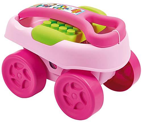 Jouets Ecoiffier -7712 - Le chariot à tirer violet Abrick Maxi – Jeu de construction pour enfants – Dès 12 mois – Fabriqué en France