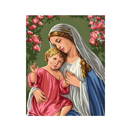 WACYDSD Puzzle 3D Puzzle 1000 Piezas Arte De La Pared De La Imagen De Bricolaje Virgen María Jesús