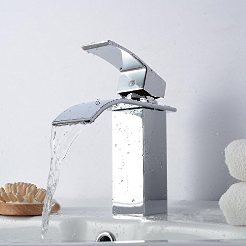 Generic. rfall Becken Waschbecken Wasserhahn, Messing, chrom FAU Küche Spüle Mixer mit Wasserhahn, modernes Badezimmer-Waschbecken athroom Wasserhahn Wasserfall dern bathroo