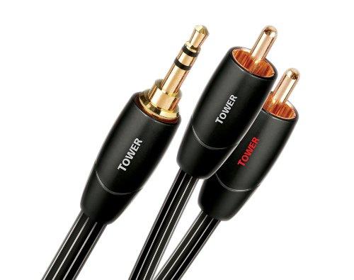 AudioQuest 0.6m Tower 3.5mm - 2xRCA cavo audio 0,6 m Nero