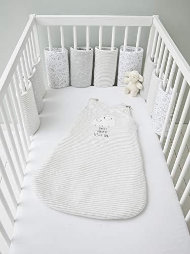 Vertbaudet Babynestchen,Traumschäfchen, atmungsaktiv weiß/grau ONE Size