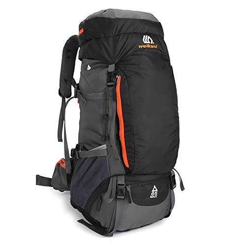 SKYSPER Mochilas de Senderismo 50L 65L con Cubierta Impermeable Mochila de Marcha Trekking Macutos para Viajes Excursiones Acampadas Trekking Camping Deporte al Aire Libre