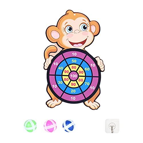 Milageto Target Sticky Ball Diana Diana Fiesta de Tiro Creativa Deportes al Aire Libre Juguetes de Tela para Interiores Tablero Educativo para niños Baloncesto - Mono