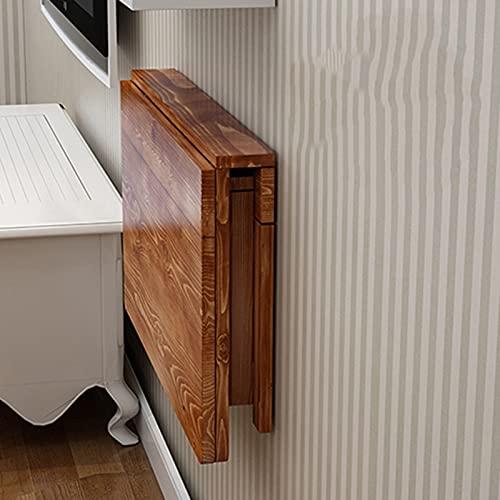 Mesa plegable de pared Madera Maciza Mesa de Pared de Hoja Caída, Colgante Mesas de Comedor de Cocina para Espacios Pequeños, Escritorio Plegable para Baño de Baño Balcón (Size : 100×50cm)