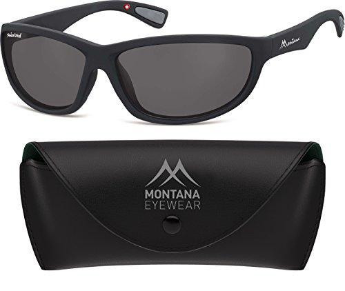 Montana Eyewear Sunoptic SP312 Sonnenbrille in schwarz, inklusive Softetui