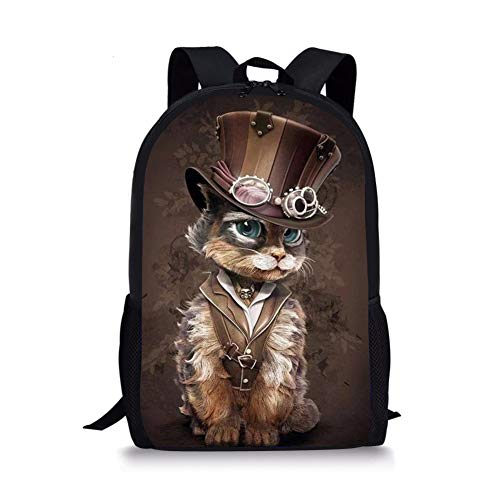 FIRST DANCE Cute Animal Print Kids Backpacks Lightweight School Bags for Pupils Boys Girls Casual Daypack Dog Cat