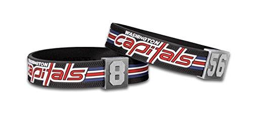 BRAYCE® Washington Capitals Armband mit Deiner Trikot Nummer 00-99 I Eishockey pur mit dem NHL® Caps Trikot am Handgelenk personalisierbar & handgemacht