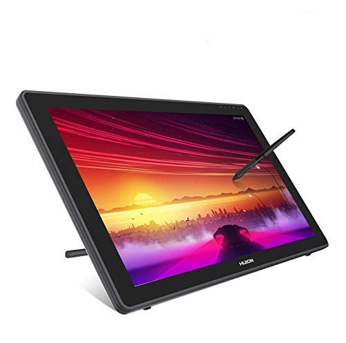 HUION 2020 Kamvas 22 Grafik Zeichen Tablet Monitor,1920 x 1080 Full HD-Display, kompatibel mit Windows und Mac, mit verstellbarem Ständer und batterielosem Stylus PW517 (21,5 Zoll)