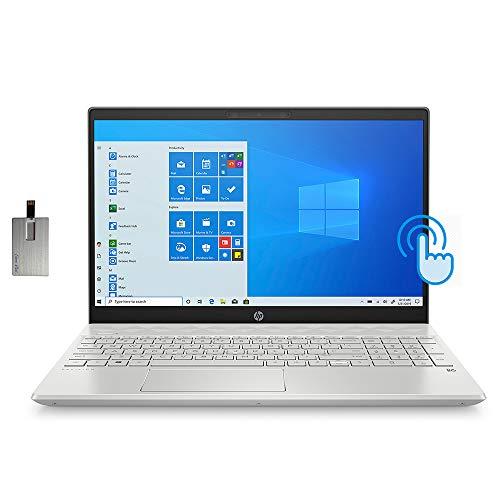 "2021 HP 15.6"" FHD Touchscreen Laptop Computer, 10th Gen Intel Core i5-1035G1, 32GB RAM, 2TB HDD+ 2TB SSD, Backlit KB, Intel UHD Graphics, HD Audio, HD Webcam, USB-C, Windows 10, 32GB SnowBell USB Card"