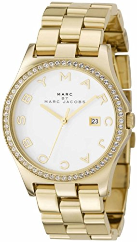 Marc Jacobs Damen-Armbanduhr Analog Quarz Edelstahl MBM3045