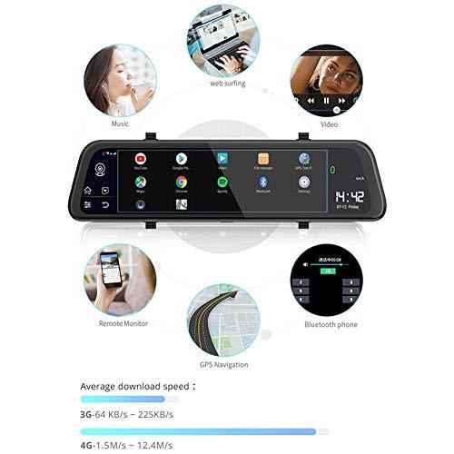 pegtopone Spiegel Dashcam 9,66 Zoll Screen Full HD, Weitwinkel Frontkamera Und Rückfahrkamera, 4G Android 8.1 Dash Cam ADAS WiFi Dual Video Aufnahme 1080 P Objektiv RAM 2G ROM 16G GPS Incredible