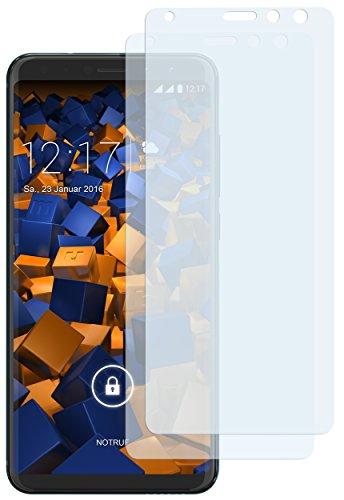 mumbi Schutzfolie kompatibel mit Wiko View Prime Folie klar, Bildschirmschutzfolie (2X)
