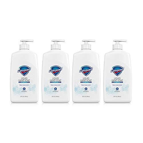 Safeguard Liquid hand soap washing away the bacteria