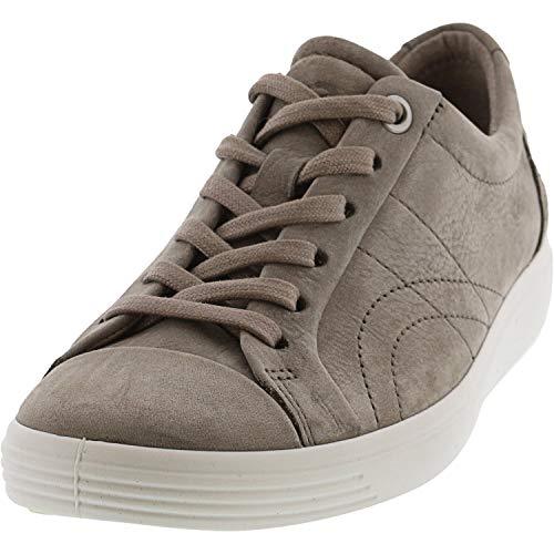 ECCO Women's Soft 7 Stitch Tie Sneaker, Warm Grey, 10-10.5
