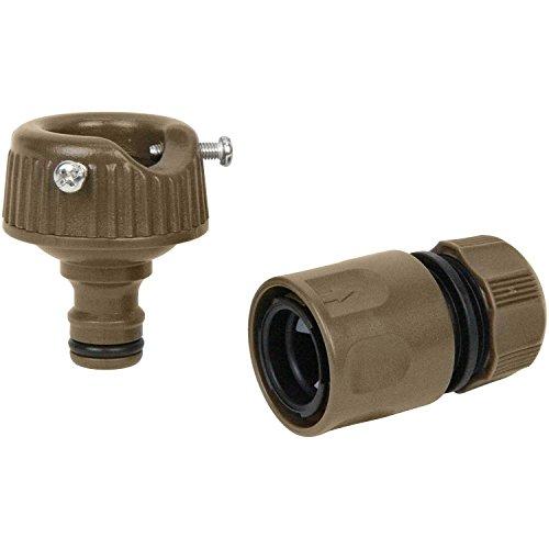 セフティー3 蛇口ニップルセット カラー 適合ホース内径12~15mm ブラウン SSK-7 BR