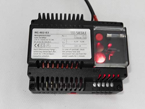 Siedle NG 402-03 Netzgleichrichter/Netzgerät/Netztrafo für Sprechanlage mit Anschlusshema, NEU ohne OVP, war Ersatzgerät