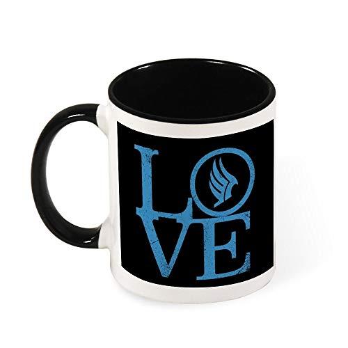 Mass Effect Paragon Love Keramik-Kaffeetasse, Geschenk für Frauen, Mädchen, Ehefrau, Mutter, Oma, 325 ml