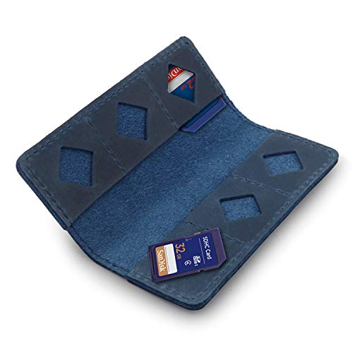 MegaGear - Tarjetero (Piel), Color Azul