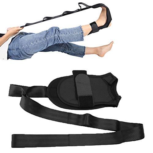 OhhGo Yoga Stretching Strap Multi-Loop Fitness Stretch Band für Physiotherapie Reha Pilates Tanz Gymnastik schwarz
