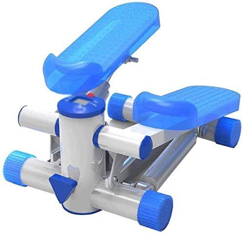 RTUHRJLXJ Indoor Portable Fitness Aerobic Pedal Kleine Schritt Frauen In Der Familie, Gewicht Zu Verlieren, Gewicht Zu Verlieren Klettern Maschine Pedal Fitnessgeräten (Color : Blue)