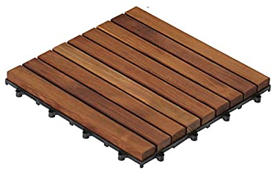 Bare Decor Side Trim Piece Interlocking Flooring in Solid Teak Wood