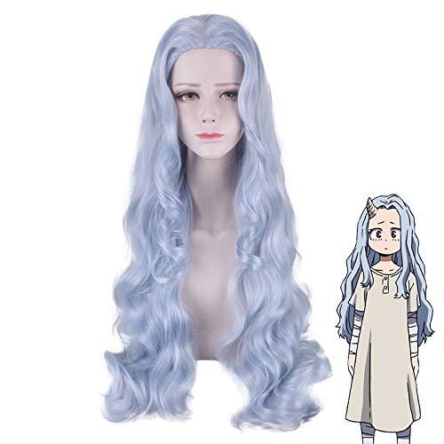 Anime My Hero Academia Eri peluca larga y rizada para mujer disfraz de Cosplay Boku No Hero Academia pelucas de pelo sinttico resistentes al calor