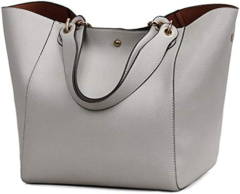 Tote Bags for Women's Shoulder Satchel Handbags Large Leather Bucket Bags